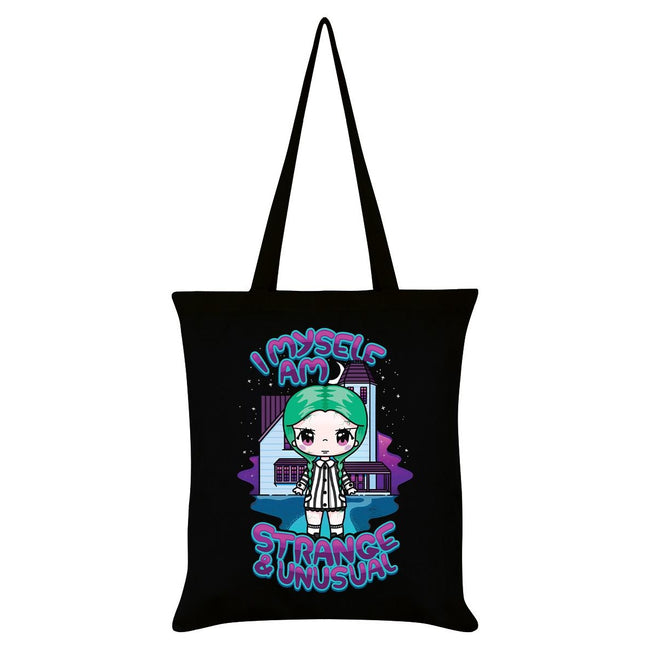 Black - Front - Mio Moon I Myself Am Strange & Unusual Tote Bag