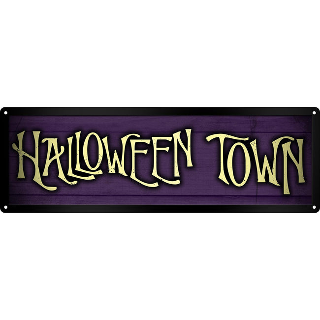 Purple - Front - Grindstore Halloween Town Slim Tin Sign