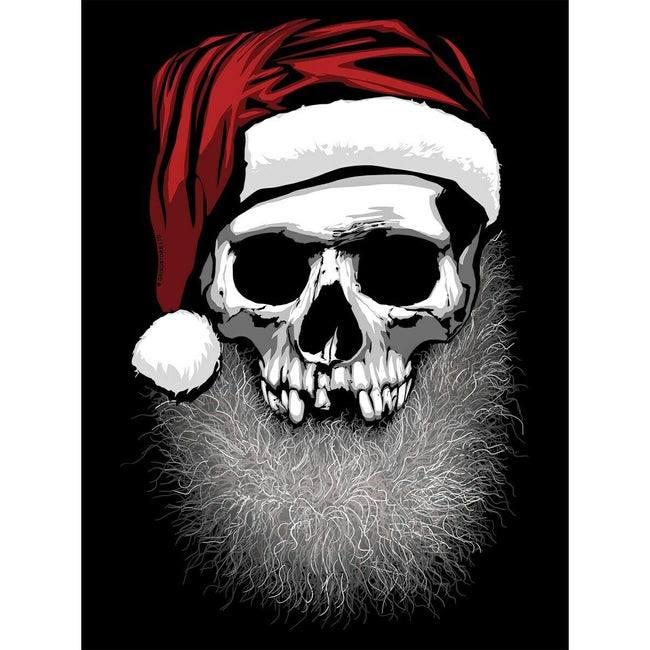 Black - Side - Grindstore Muerto Christmas Santa Sack