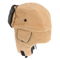 Light Camel - Back - EX-STORES Unisex Mens-Womens Fleece Trapper Hat, Ski Hat