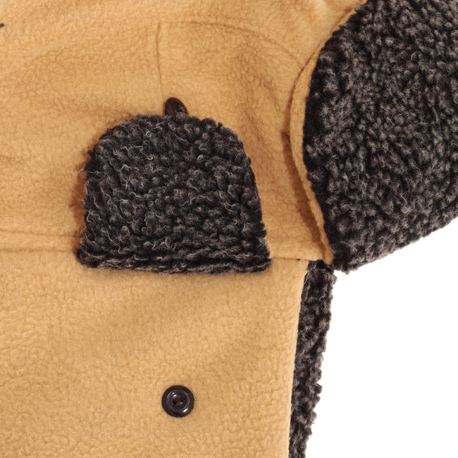 Light Camel - Side - EX-STORES Unisex Mens-Womens Fleece Trapper Hat, Ski Hat
