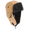 Light Camel - Front - EX-STORES Unisex Mens-Womens Fleece Trapper Hat, Ski Hat