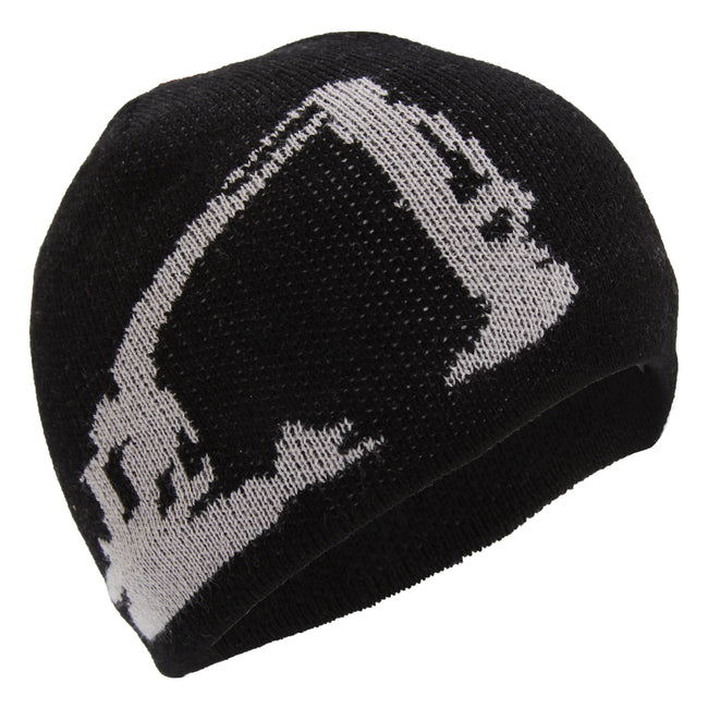 Black-Grey - Front - Caterpillar Childrens-Kids Digger Design Knitted Beanie Hat