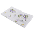 Loop Border - Front - Womens-Ladies Floral Cotton Rich Handkerchiefs (Pack Of 8)