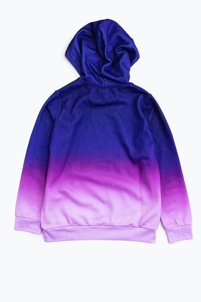 Purple - Back - Hype Childrens-Kids Fade Pullover Hoodie