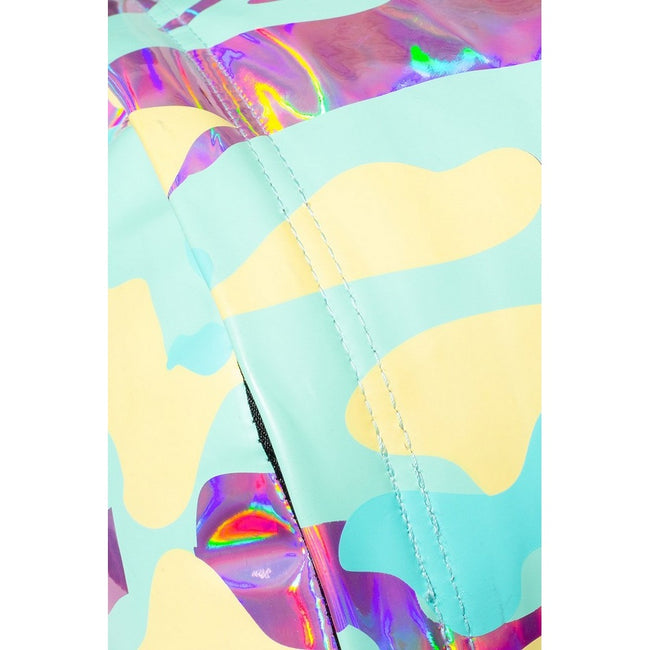 Blue-Pink-Yellow - Close up - Hype Pastel Holo Camo Backpack