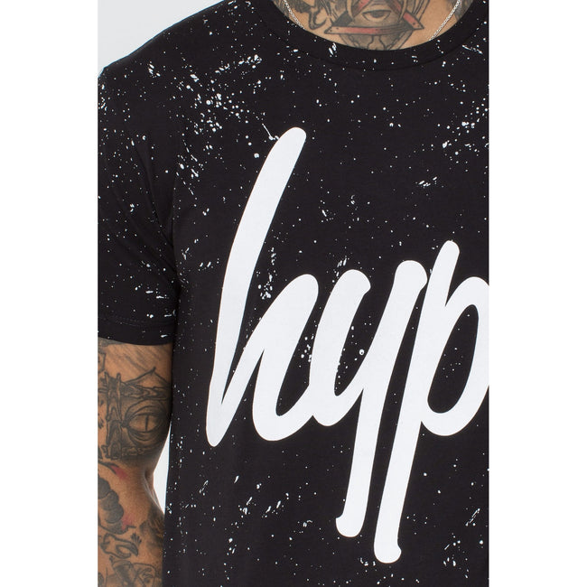 Black - Lifestyle - Hype Mens Aop Speckle T-Shirt