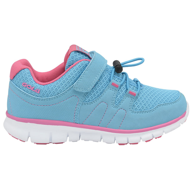 Blue-Pink - Back - Gola Sport Childrens Girls Active Termas Toggle Lightweight Multisport Trainers