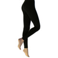 Black - Front - Silky Womens-Ladies Everyday Fashion Leggings (1 Pair)