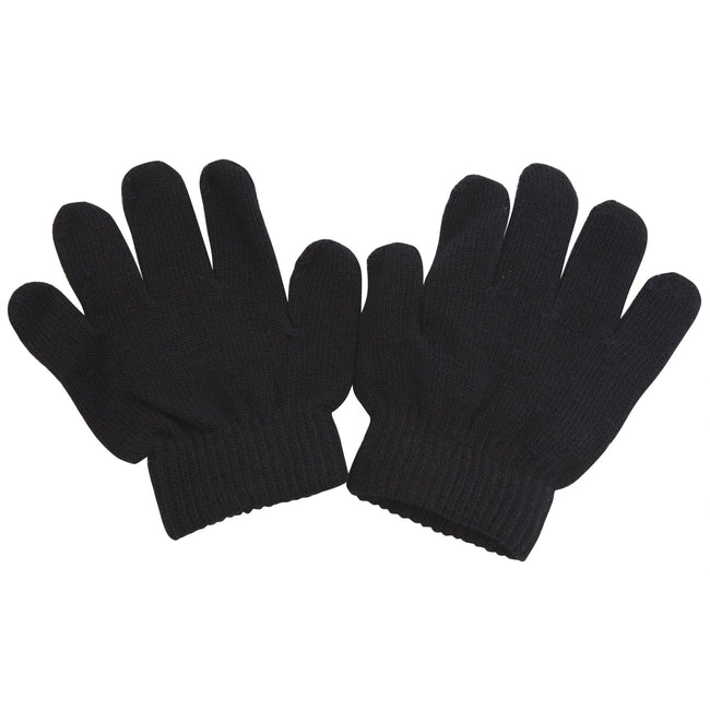 Black - Front - Childrens-Kids Winter Magic Gloves