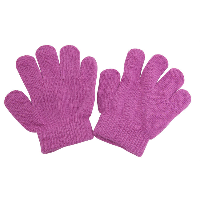 Pink - Front - Childrens-Kids Winter Magic Gloves