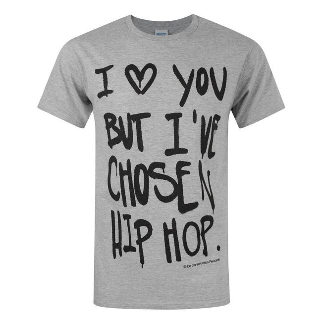Grey - Front - Deconstruction Records Mens Hip Hop T-Shirt