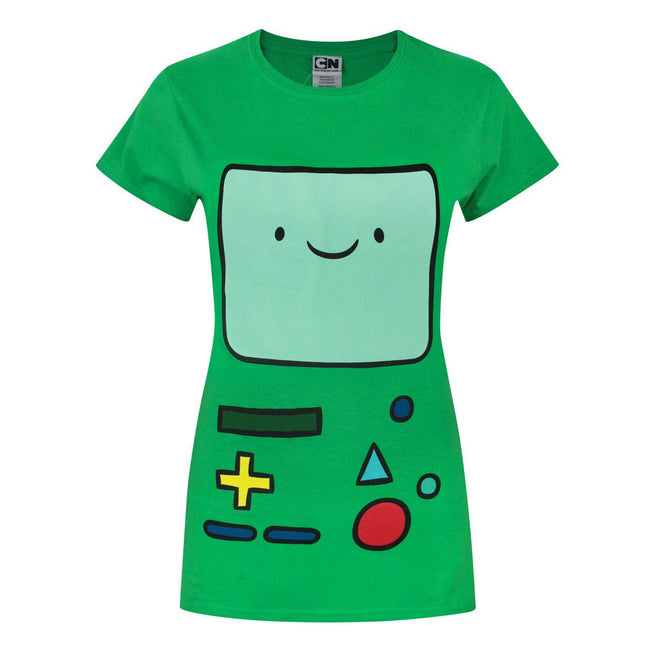 Green - Front - Adventure Time Womens-Ladies BMO T-Shirt