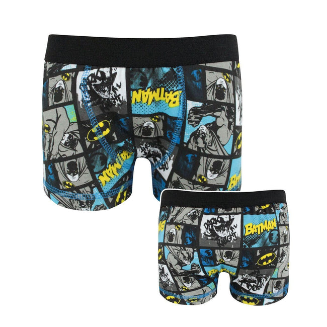 Multicoloured - Front - Batman Official Boys Panel Boxer Shorts