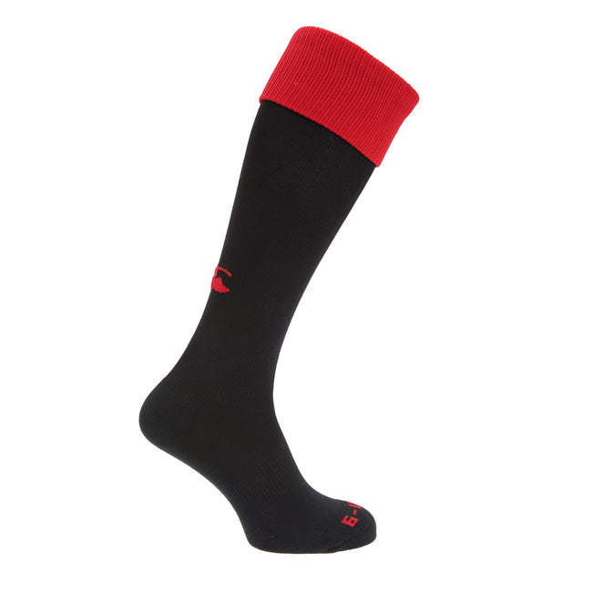 Black-Red - Front - Canterbury Mens Playing Cap Rugby Sport Socks