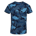 Blue Camo - Lifestyle - SOLS Mens Camo Short Sleeve T-Shirt