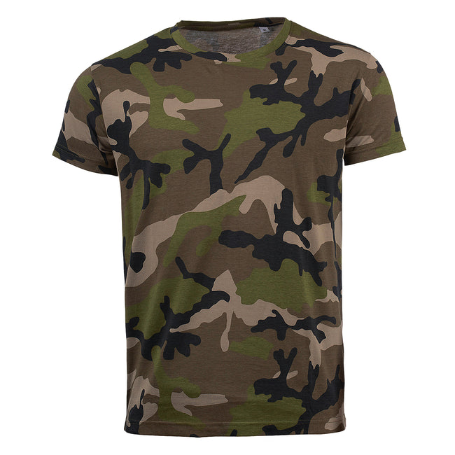 Grey Camo - Front - SOLS Mens Camo Short Sleeve T-Shirt
