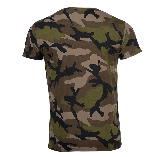 Grey Camo - Back - SOLS Mens Camo Short Sleeve T-Shirt