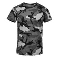 Blue Camo - Front - SOLS Mens Camo Short Sleeve T-Shirt