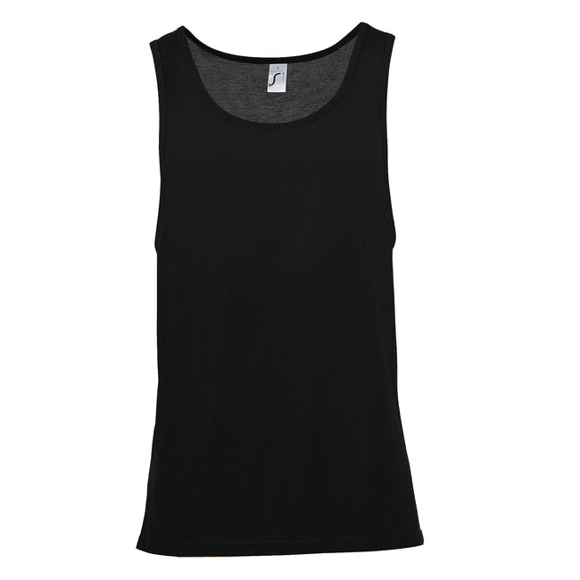 Black - Side - SOLS Unisex Jamaica Sleeveless Tank - Vest Top