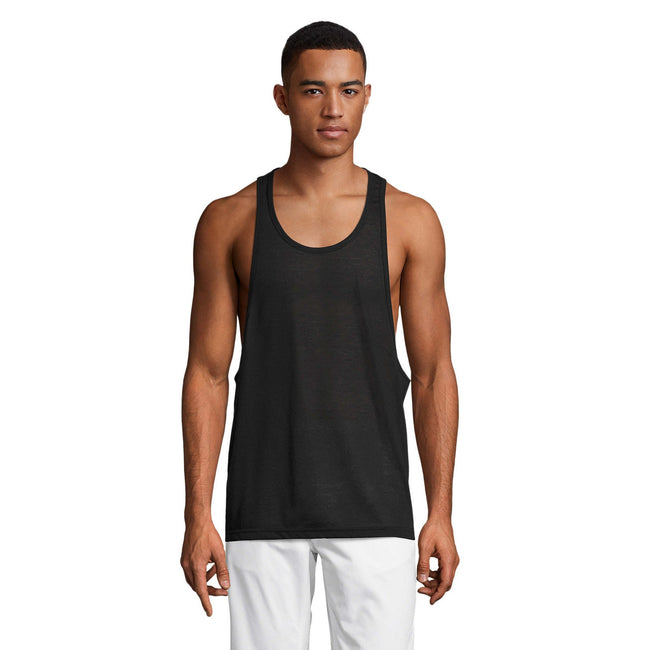 Black - Lifestyle - SOLS Unisex Jamaica Sleeveless Tank - Vest Top