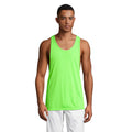 Neon Orange - Back - SOLS Unisex Jamaica Sleeveless Tank - Vest Top