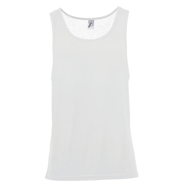 Neon Green - Back - SOLS Unisex Jamaica Sleeveless Tank - Vest Top