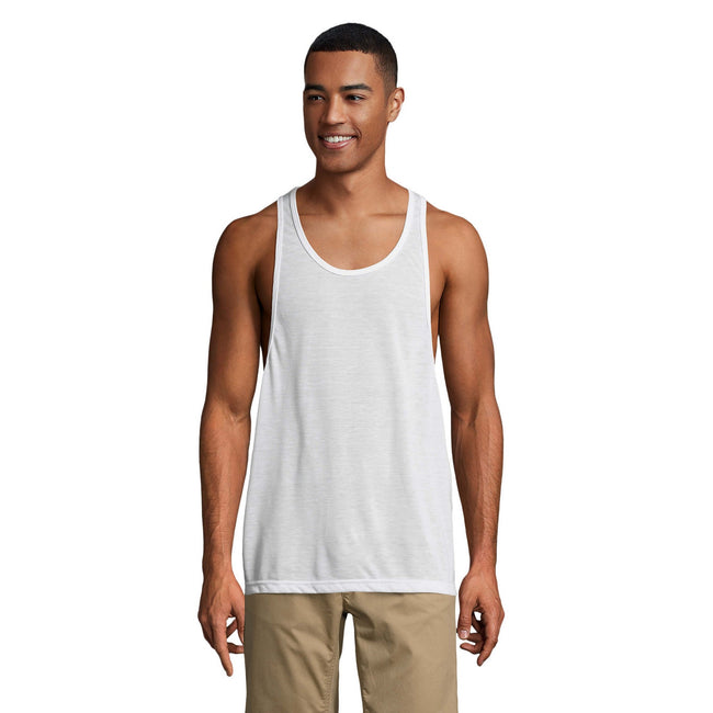 Neon Green - Side - SOLS Unisex Jamaica Sleeveless Tank - Vest Top