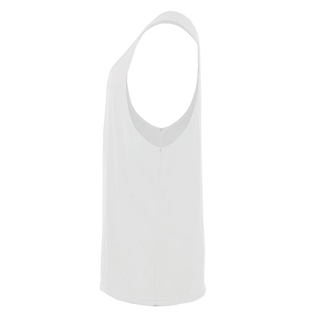 Black - Back - SOLS Unisex Jamaica Sleeveless Tank - Vest Top