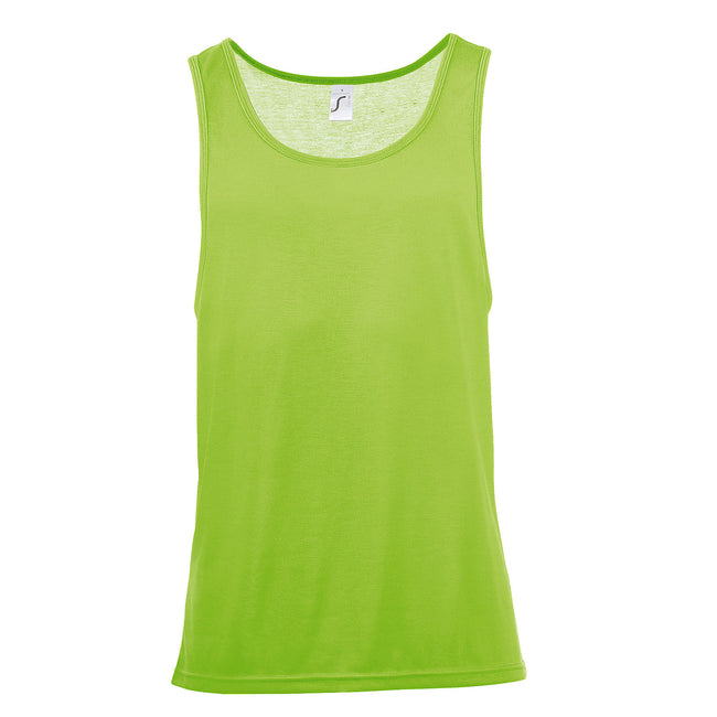 Neon Orange - Front - SOLS Unisex Jamaica Sleeveless Tank - Vest Top