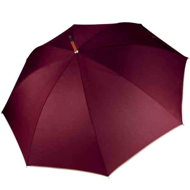 Burgundy - Back - Kimood Unisex Auto Open Walking Umbrella