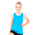 Sapphire - Back - AWDis Childrens-Kids Just Cool Sleeveless Vest Top