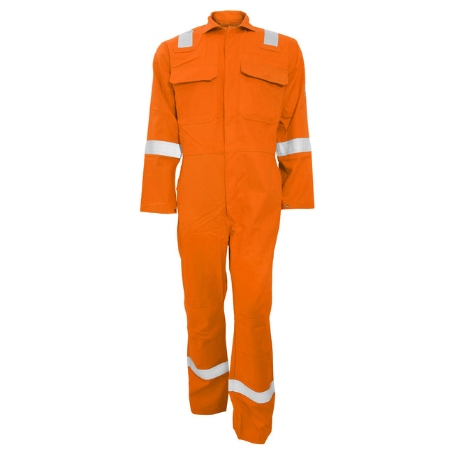 Orange - Front - Portwest Bizweld Iona Flame Resistant Work Overall-Coverall