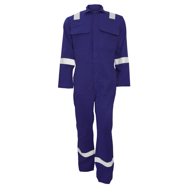 Navy - Front - Portwest Bizweld Iona Flame Resistant Work Overall-Coverall