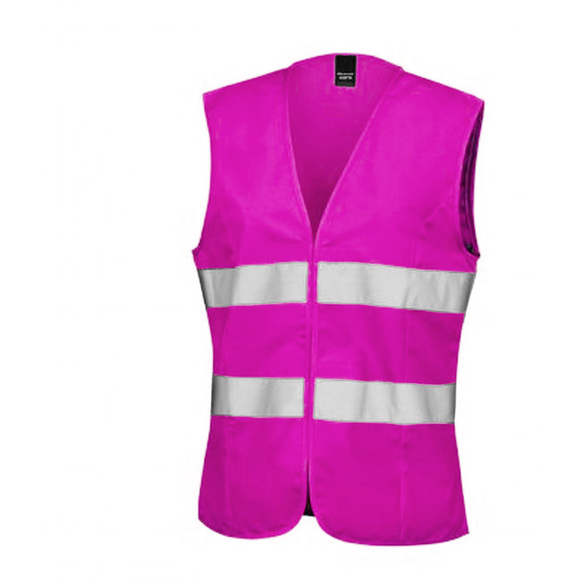 Fluorescent Pink - Front - Result Core Womens-Ladies Sleeveless Hi Vis Vest