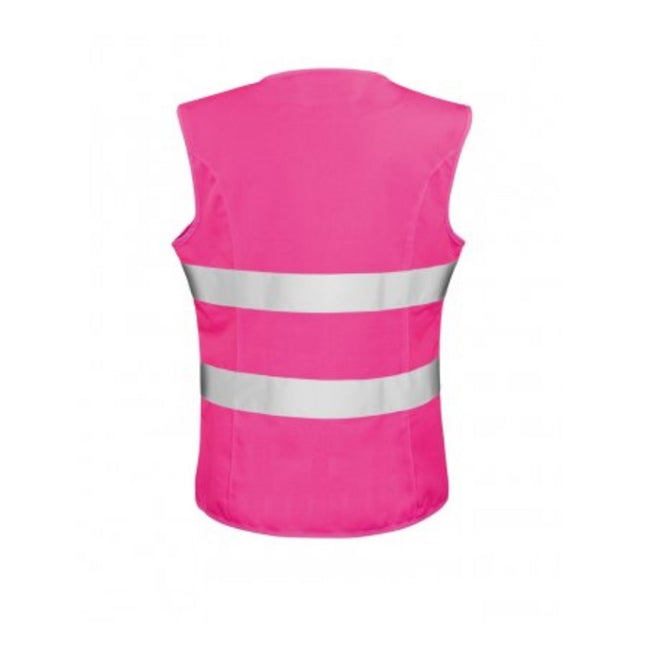 Fluorescent Pink - Back - Result Core Womens-Ladies Sleeveless Hi Vis Vest