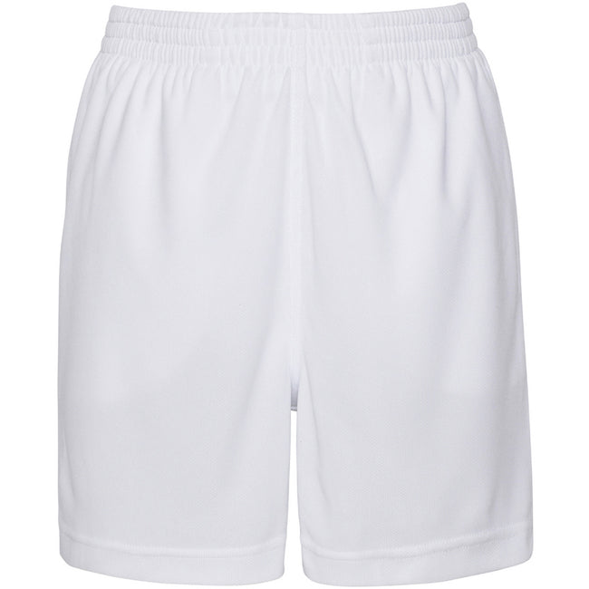 Arctic White - Side - AWDis Just Cool Childrens-Kids Sport Shorts