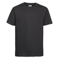 Black - Front - Russell Childrens-Kids Slim Short Sleeve T-Shirt
