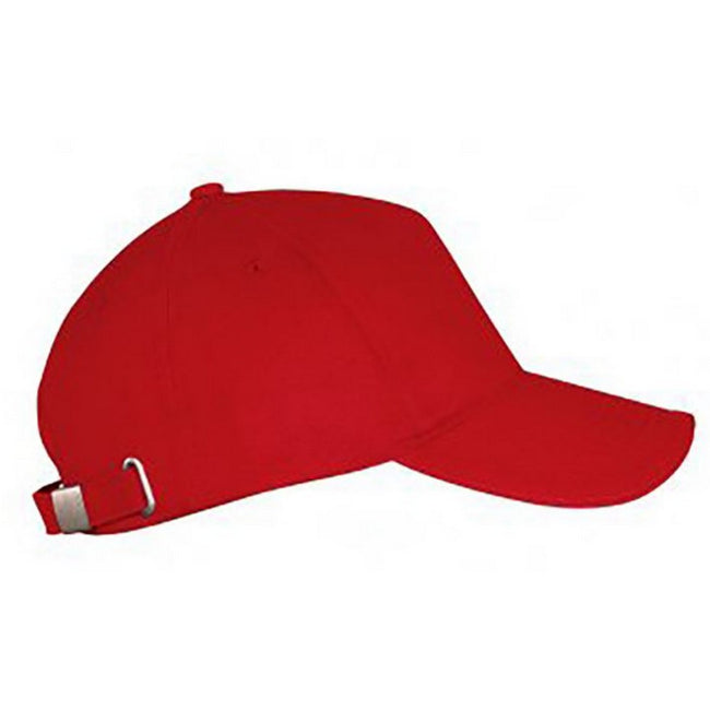 Red - Front - SOLS Unisex Long Beach Cap