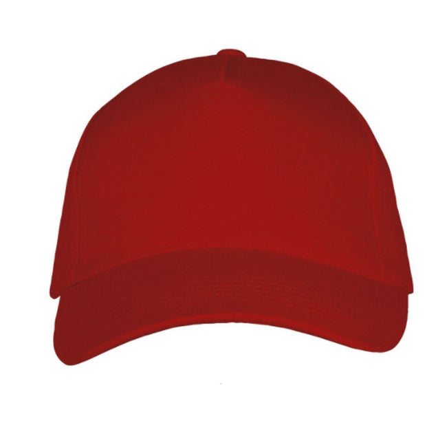 Red - Back - SOLS Unisex Long Beach Cap