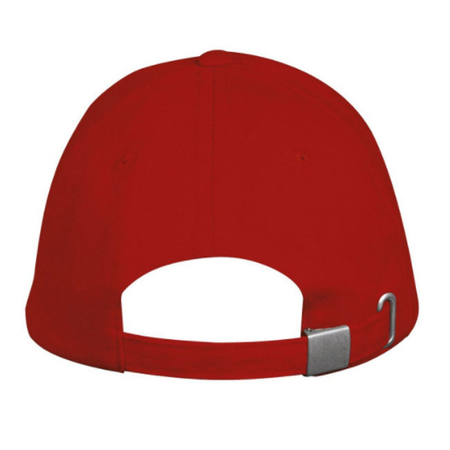 Red - Side - SOLS Unisex Long Beach Cap