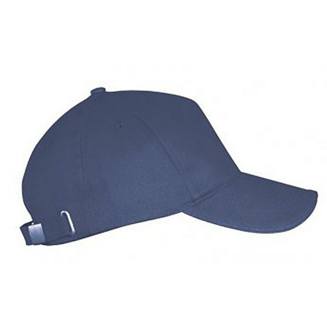 Denim - Front - SOLS Unisex Long Beach Cap