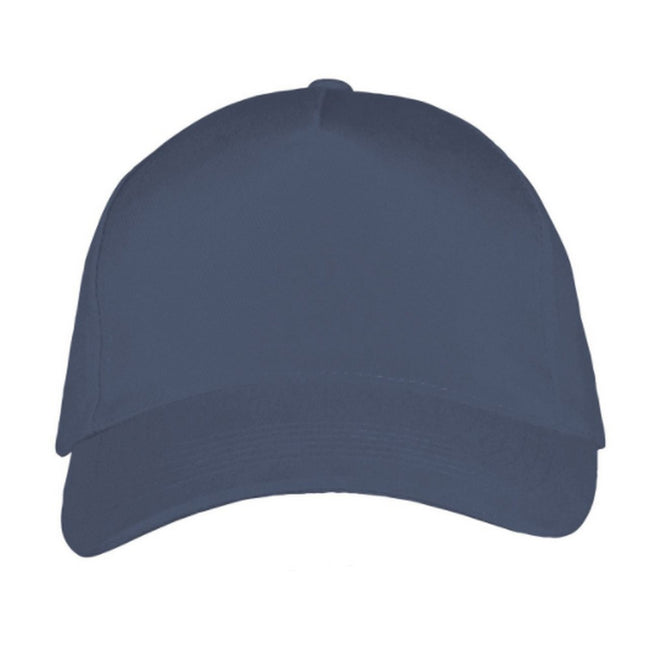 Denim - Back - SOLS Unisex Long Beach Cap