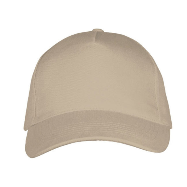 Beige - Back - SOLS Unisex Long Beach Cap