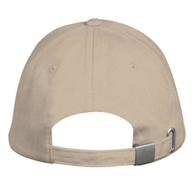 Beige - Side - SOLS Unisex Long Beach Cap