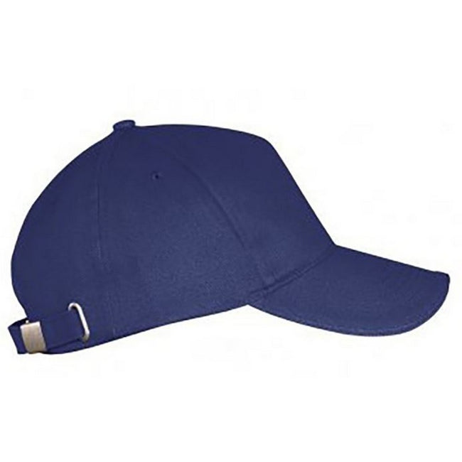 French Navy - Front - SOLS Unisex Long Beach Cap