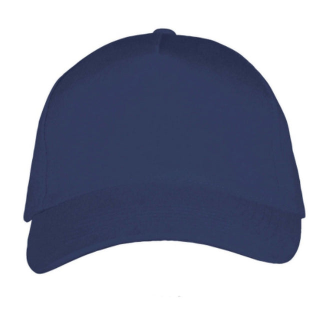 French Navy-White - Front - SOLS Unisex Long Beach Cap