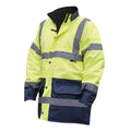 Fluorescent Yellow - Front - Warrior Mens Denver High Visibility Safety Jacket
