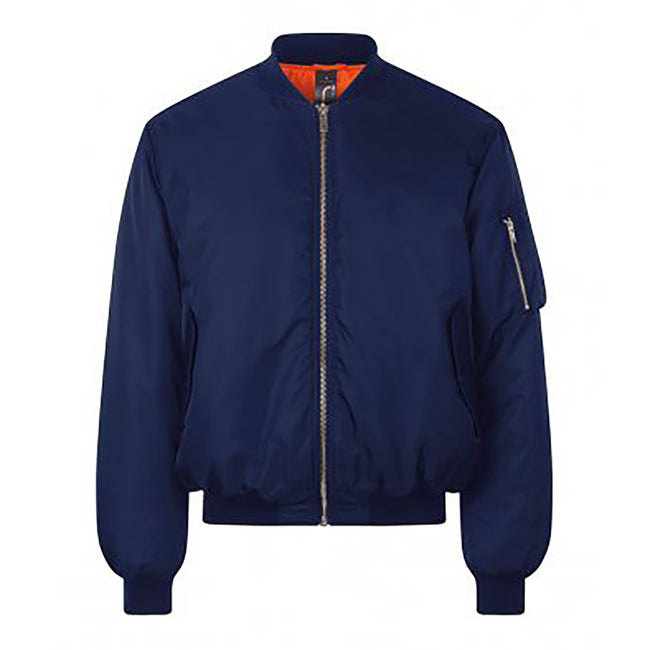 French Navy - L - Front - SOLS Unisex Remington Authentic Bomber Jacket