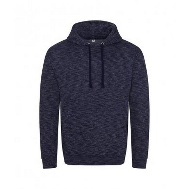 Navy-White - Front - AWDis Mens Cosmic Blend Hoodie